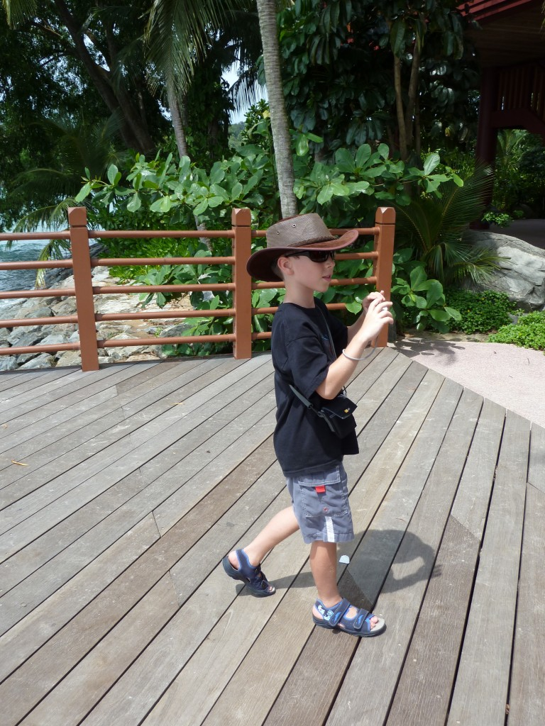 Wearing a hat in Singapore