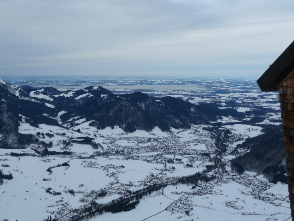 View from the cable car above Ruhpolding