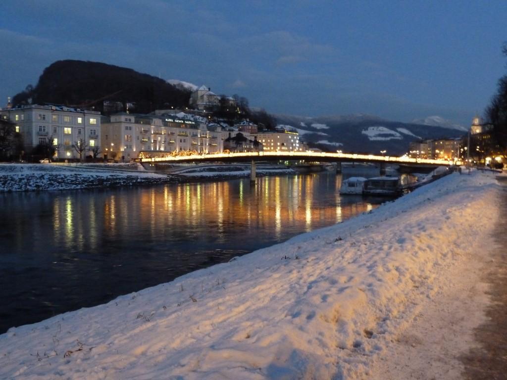 Bridge over the Salzach river in Salzburg