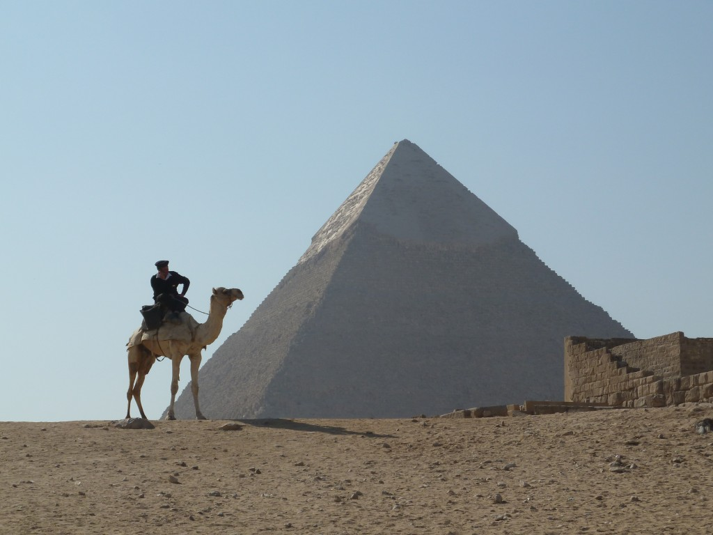 Police camel and the Great Pyramid