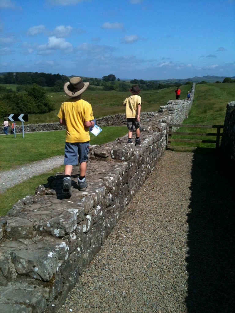 Walking along Hadrian's wall