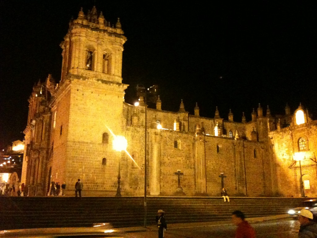 The cathedral in Cusco's main square