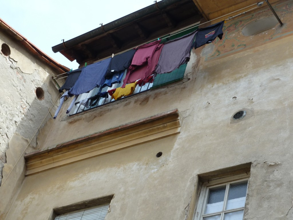 But in Lucca, at least there was a very cool clothes line...