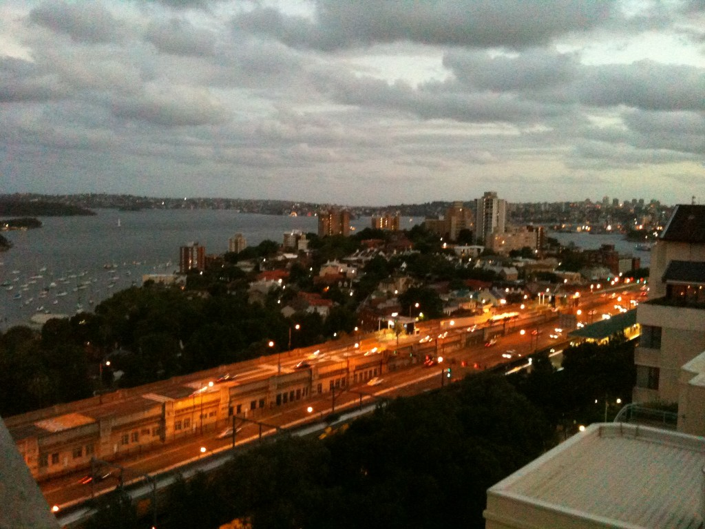 A sydney view from our new place