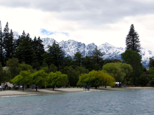 Snow over Queenstown in Summer.