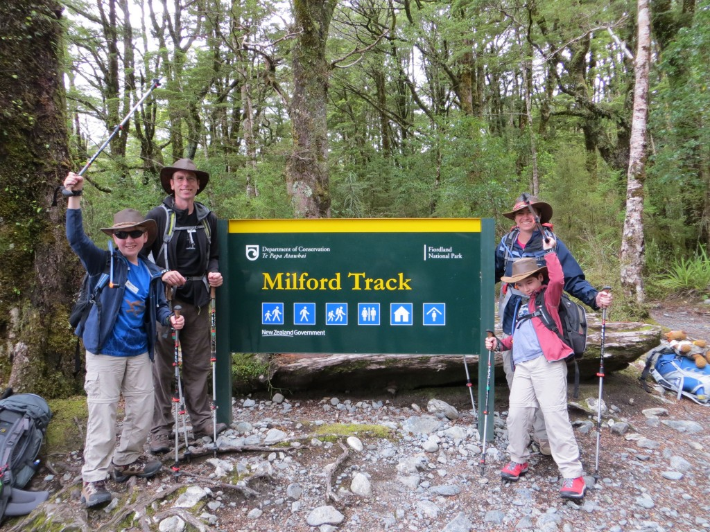 The start of the Milford track.