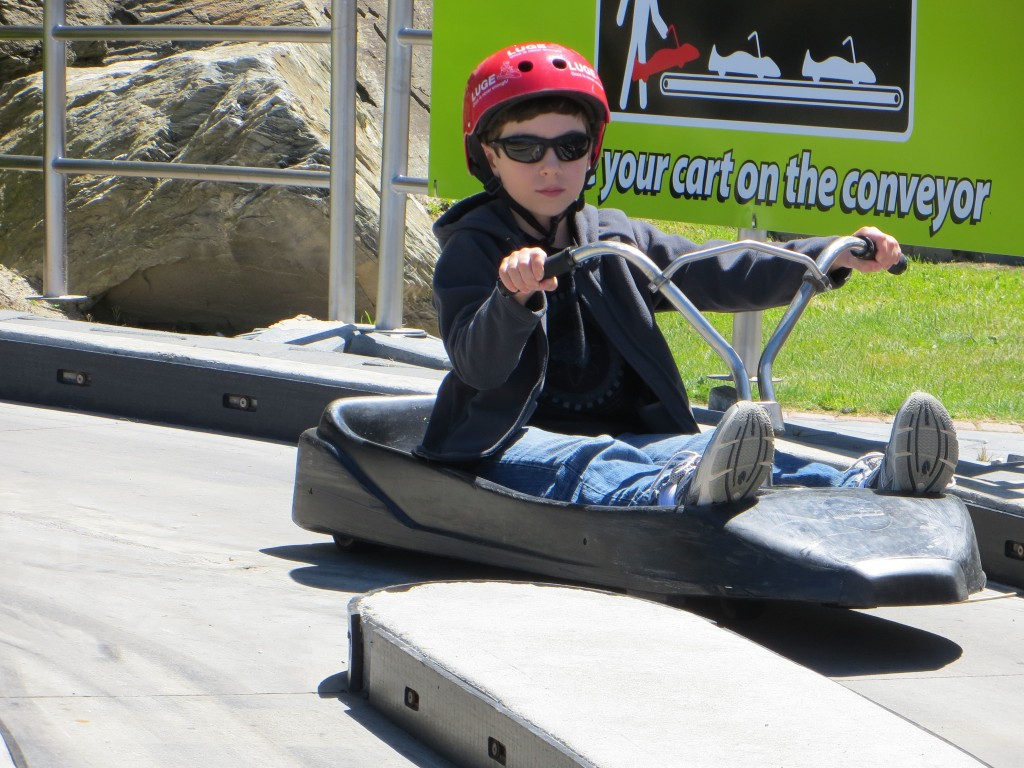 Declan on the luge.