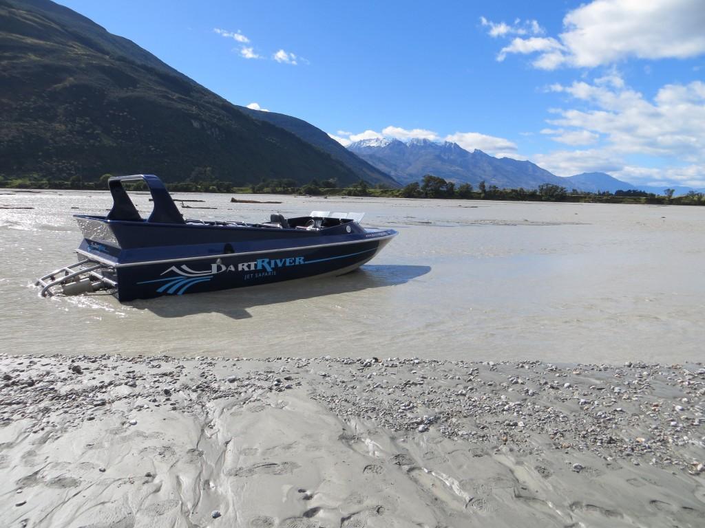 Our stranded jet boat.