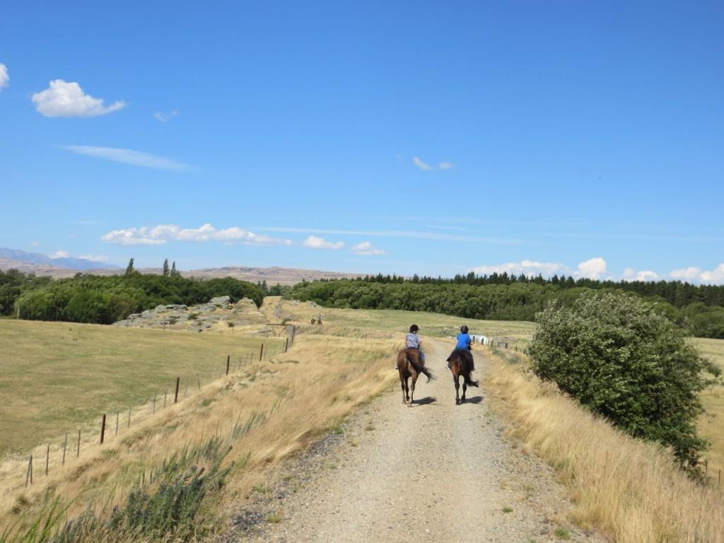 Boys on horseback.