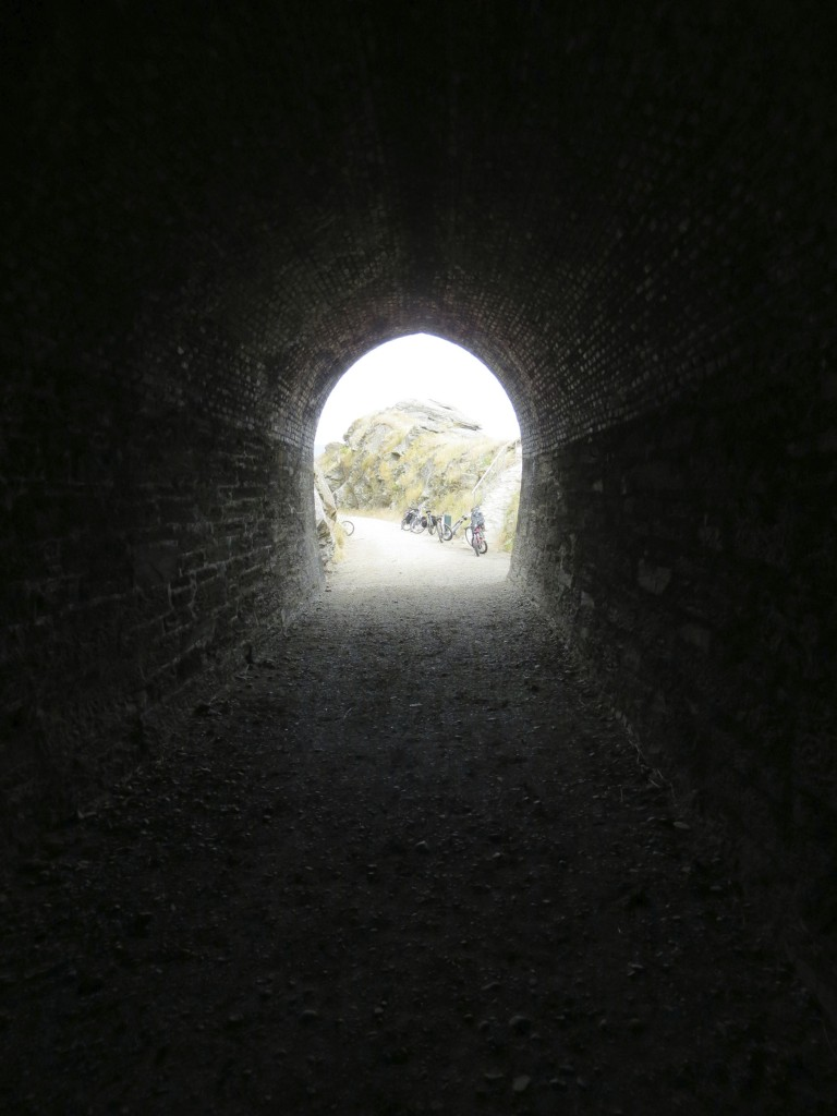 Lovely tunnel on the Otago Rail Trail.