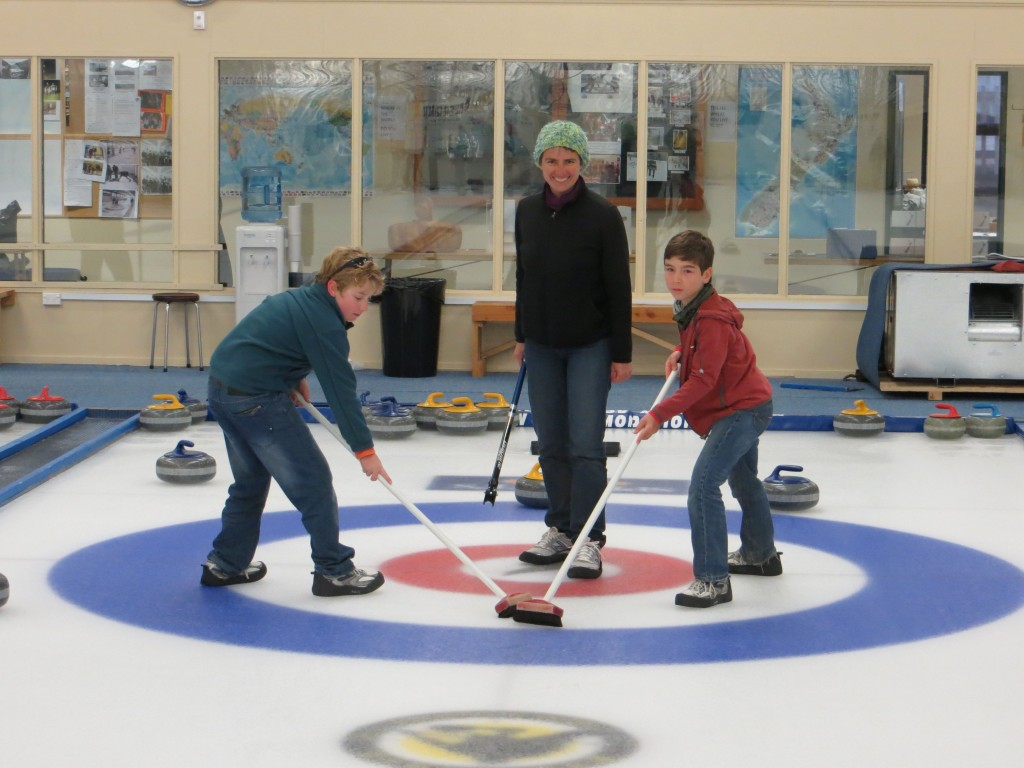 Curling.Yes, curling.