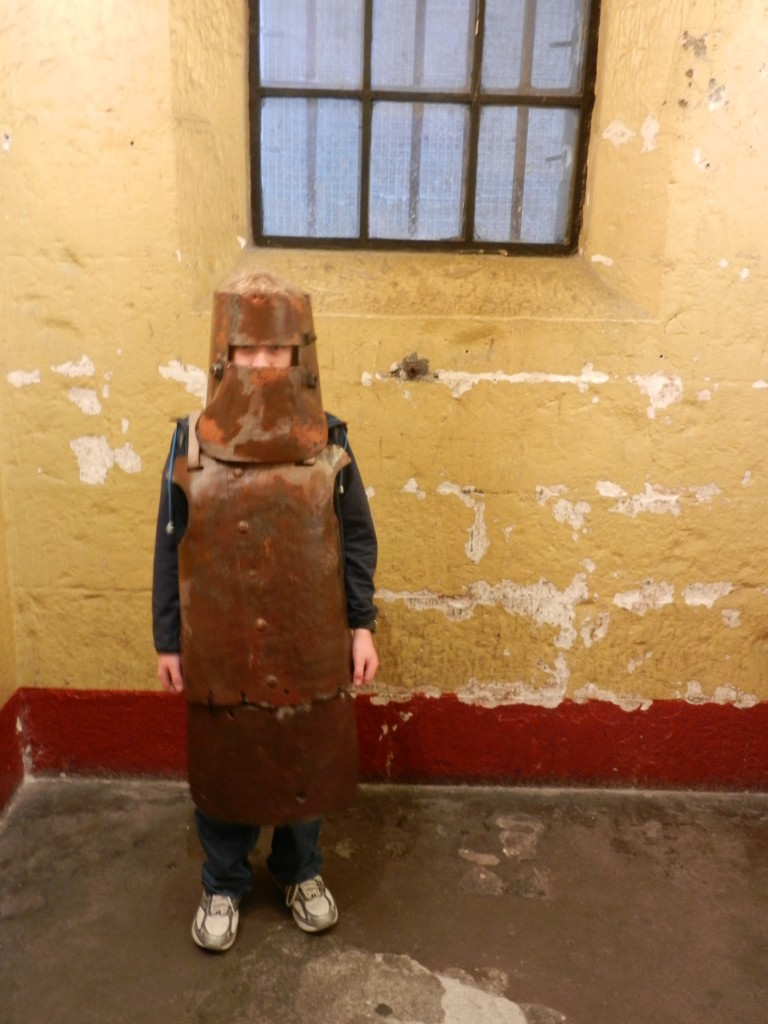 Callum as Ned Kelly.