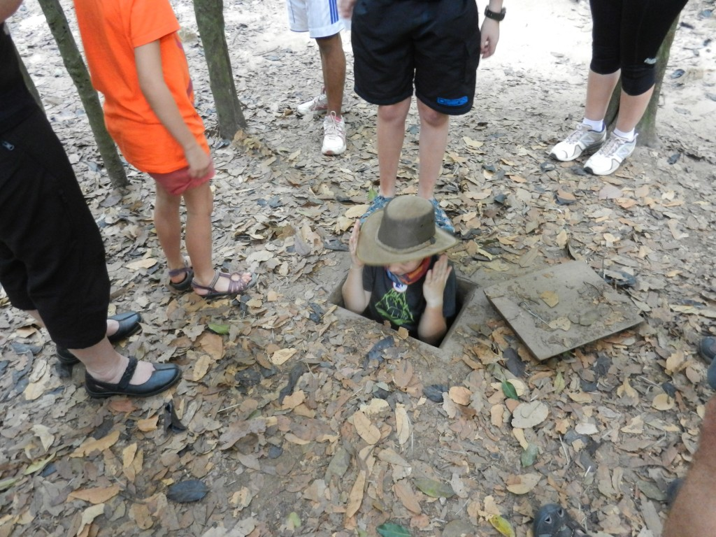 A Cu Chi Tunnels entrance.