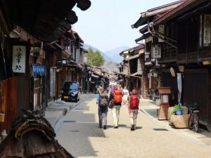 Main street of Narai the town of a thousand inns.