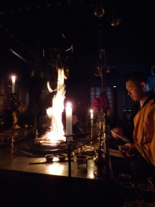 Fire ceremony - Ekoin monastery.