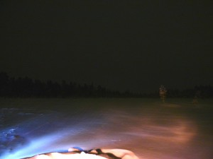 Icy lake - no Aurora.