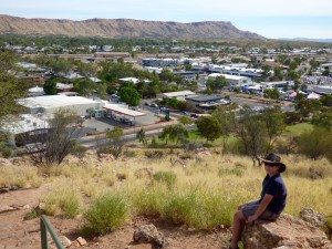 Overlooking Alice Springs from ANZAC Hill.
