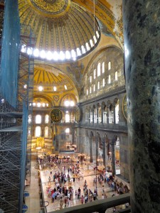 Inside the Aya Sophia.
