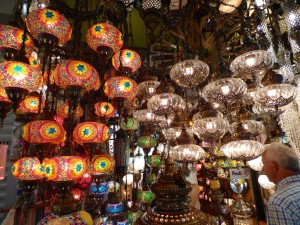 Lights in the Grand Bazar.