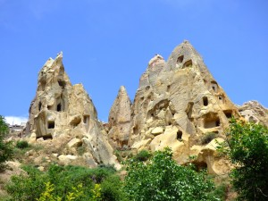 Rock formations in the Valley.