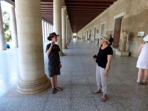 Debating in the Greek agora.