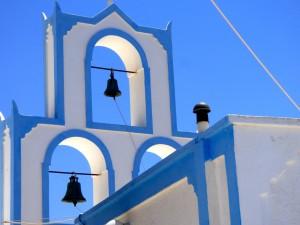 Bell tower on Santorini.