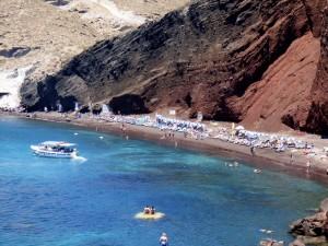 Santorini's Red Beach.