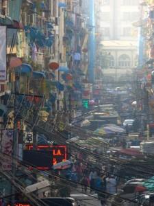 Street in Yangon.