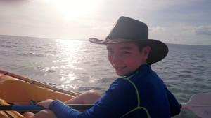 Declan kayaking.